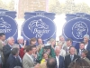 The winner's presentation after the 2008 Breeders' Cup Classic.