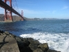 Under the Golden Gate Bridge at Fort Point, as seen in the film Vertigo