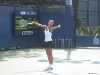 Anastasia Pivovarova practicing at the 2008 US Open