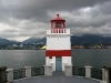 Brockton Point Lighthouse under grey skies, Stanley Park, Vancouver